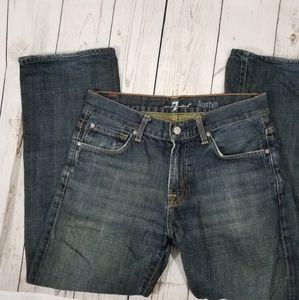 74AM men's Austyn 31/30 relaxed straight leg jeans